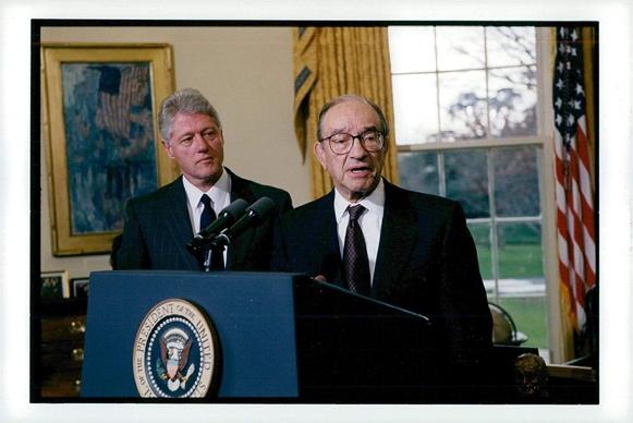 Amazon.com: Vintage photo of Alan Greenspan, US economist and ...