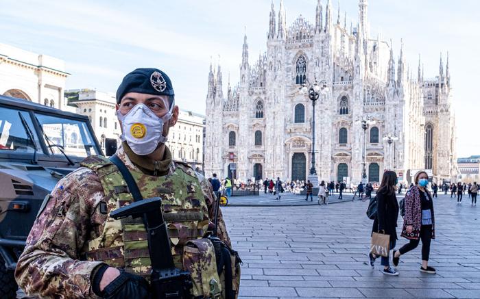 Coronavirus outbreak, Milan, Italy - 24 Feb 2020 - Times News